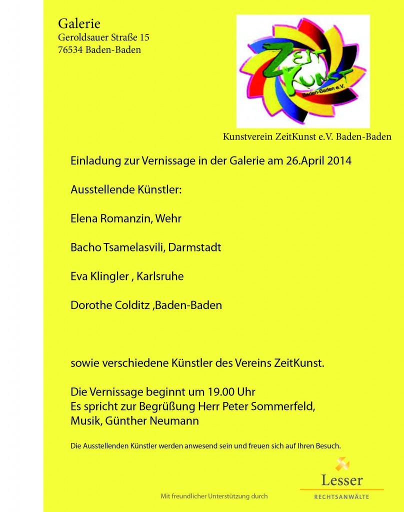 1404 Einladung Vernissage Baden-Baden