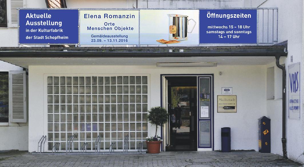 VHS-Elena Romanzin-Ausstellung